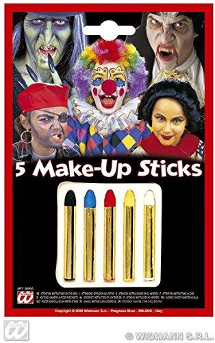 Sancto Lot de 5 Crayons Maquillage colorées – Carnaval Halloween