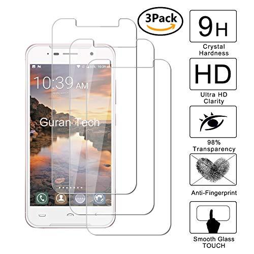 Guran [3 Pezzi] Pellicola Protettiva per Homtom HT37   HT37 PRO Smartphone Ultra Sottile Screen Protector in Vetro Temperato Film Ultra Resistente