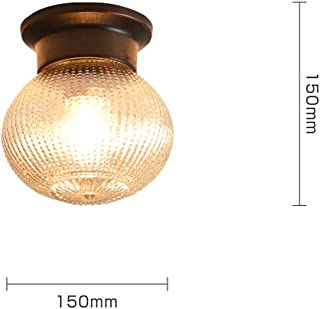 Copper Ceiling Lamp, Creative Glass Pineapple Lampshade Pendant Lamp, Nordic Aisle Porch Balcony Lamp Personality Chandelier yd (Color : A)