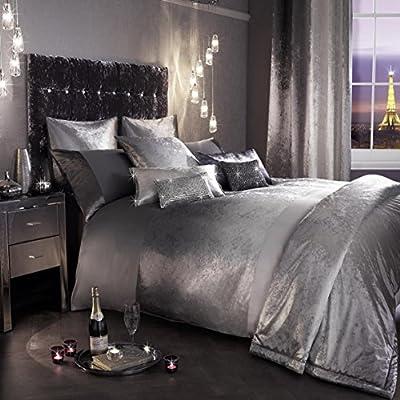 Kylie Minogue Single Duvet Cover 100% Cotton 200TC Bedding Satin Bed Linen Set Ombre Grey