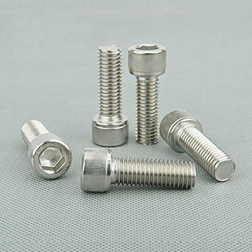 TANGIST SERIE 50 PCS Tornillo HEX HEX de acero inoxidable de alta calidad1.4 / m1.6 * 4/6/6/8/10/12 mm Tornillo de cabeza de cilindro, Tornillos de cabeza de taza