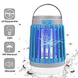 AICase Lampe Solaire LED 10W LED, Anti-moustiques avec lumière UV et Courant à Haute Tension, Indice d'étanchéité IP67, Bleu
