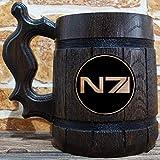 Mass Effect N7 Beer Mug, Gamer Gift, Personalized Beer Stein, Mass Effect Tankard, Custom Gift for Men, Gift for Him, Geek Gift