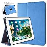 doupi Deluxe Protección Funda para iPad 2 3 4, Smart Sleep/Wake Up función 360 Grados giratoria del Caso del Soporte Bolsa, Azul
