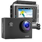 Victure Action Cam Full HD 1080P 12MP wasserdichte Sport Action Kamera 1050mAh Batterien 170 °...