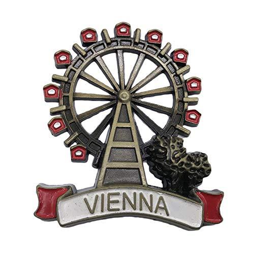 3D Österreich Wien Kühlschrank Kühlschrankmagnet Tourist Souvenirs Handgemachte Metall Handwerk Magnetische Aufkleber Home Küche Dekoration Reise Geschenk