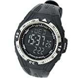 Stopwatch Countdown Depth Timer Sports (All Black)