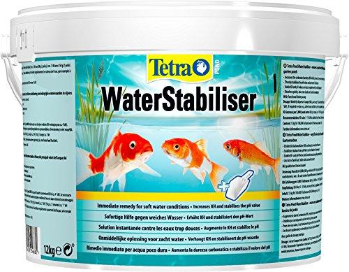 Tetra Pond WaterStabiliser (optimiert den KH- und pH-Wert im Gartenteich, beugt weichem Teichwasser vor, Eimer mit Dosierschaufel) 12 kg