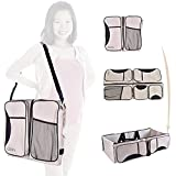 GiGis Baby 3 in 1 Diaper Bag, Travel Bassinet & Portable Diaper Changing Station (Beige)