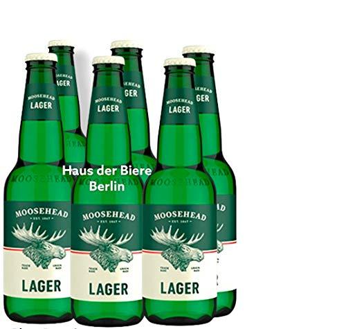 Moosehead Lager Bier aus Kanada 6 Flaschen