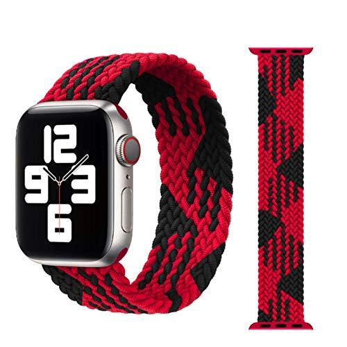 Trenzado Solo Loop Para Apple Watch Band 44mm 40mm 38mm 42mm Tela Nylon elástico correa pulsera iWatch series 3 4 5 se 6 correa