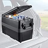 JOYTUTUS Portable Freezer, 42 Quart (40L) Portable Refrigerator, 15Min Fast Cooling RV Fridge(-4℉~50℉) Car Refrigerator Electric Car Cooler for Truck, Boating, Camping, Road Travel and Home-12/24V DC