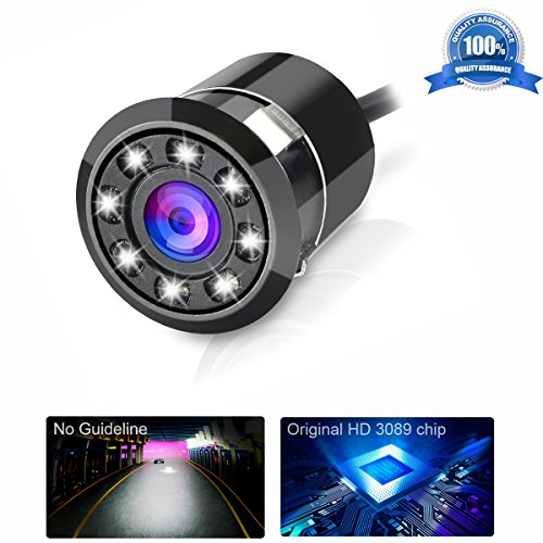 Backup Camera Car Rearview Cameras Tiker,8 Led Night Vision HD Color Back up Camera No Guideline Scale Line, Vehicle Reverse Parking Sensor Waterproof 170 Wide Angle, fit All Cars