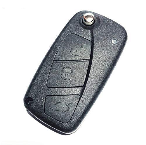 Hkgk Carcasa para llave de coche con 3 botones, plegable, para Fiat Punto Ducato Stilo Panda