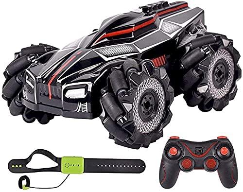 H.Slay RC-stuntautos, 360°spin laterale zijverschuiving auto met licht en spray 2.4G elektrische afstandsbediening auto, 4WD hoge snelheid Dirft racewagen RC vrachtwagen speelgoedautos voor jongens