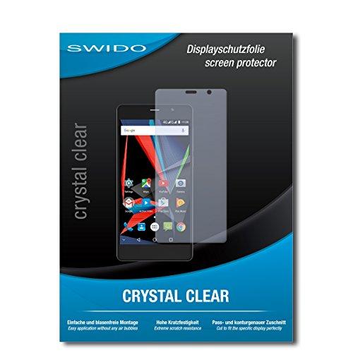 SWIDO Schutzfolie für Archos 55 Diamond Selfie [2 Stück] Kristall-Klar, Hoher Festigkeitgrad, Schutz vor Öl, Staub & Kratzer/Glasfolie, Bildschirmschutz, Bildschirmschutzfolie, Panzerglas-Folie