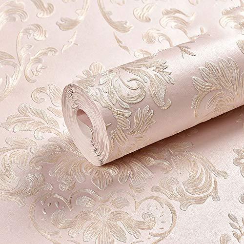 Dreidimensionale Geprägte Tapete Vliestapete Im Europäischen Stil, Geeignet for Wohnzimmer-TV-Hintergrundwände (Color : C, Size : 393.7 * 20.87in)