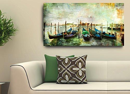 Quadro Decorativo Para Sala Paisagem Barcos 55X100