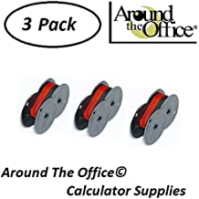SHARP Model EL-1630-G Compatible CAlculator RS-6BR Twin Spool Black & Red Ribbon by Around The Office