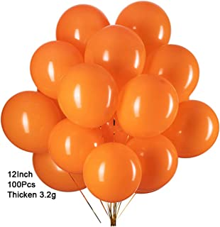 GAKA 12 inch Orange Balloons Helium Balloons Quality Latex Balloons Party Decorations Supplies Pack of 100,3.2g/pcs
