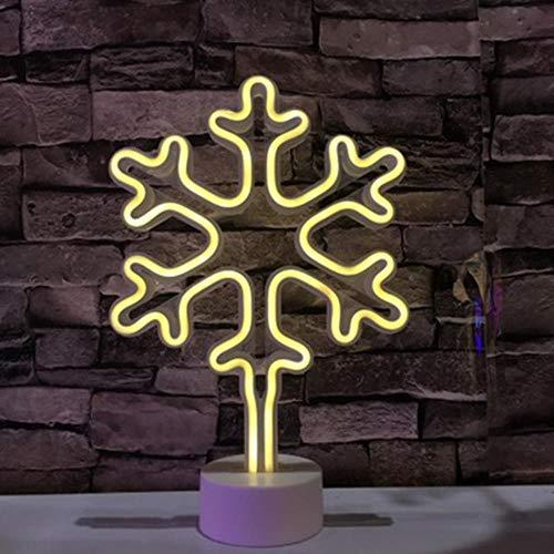 Mode Nachtlampje Regenboog LED Neon Light Neon Sign Kleurrijke Tafellamp Sprookjesverlichting Vakantiecadeau Home Kinderkamer Feestdecor, Sneeuwvlok