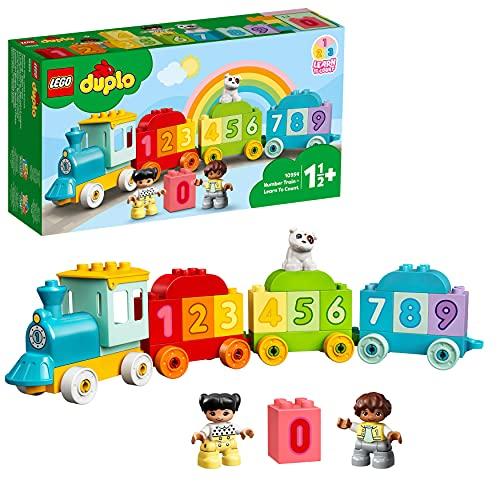 LEGO 10954 Duplo My First Tren de los Números: Aprende a Contar, Juguetes Educativos para Bebés +1.5 Año con Mini Figuras
