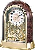 シチズン 置き時計 電波 アナログ パルドリームR656 クリスタル 回転飾り 茶 CITIZEN 4RY656-023