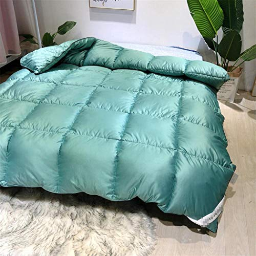 Laoling The Quilt Core Down Duvet Core Washable Exquisite Fluffy Thick Winter Bedding Warm Feather Quilt Duvet Core For Home Green 150x200cm