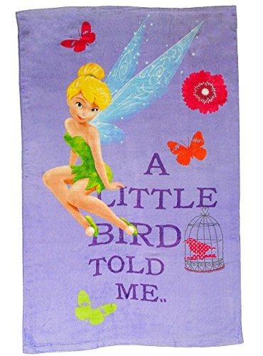 alles-meine.de GmbH Badetuch - Disney Fairies Tinkerbell - 70 cm * 120 cm Handtuch Strandtuch - 100 % Baumwolle - Fairy Feen - Kinder - für Mädchen 70x120 - Kinder Badehandtuch F..