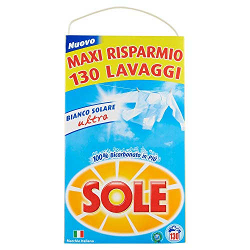 Sole Detersivo Lavatrice Polvere, 130 Lavaggi