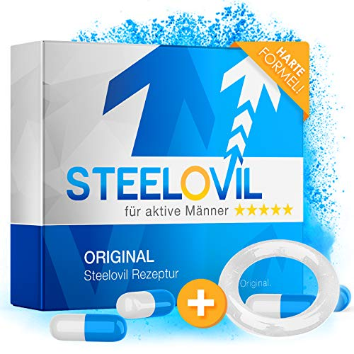 *𝗘𝗜𝗡𝗙Ü𝗛𝗥𝗨𝗡𝗚𝗦𝗣𝗥𝗘𝗜𝗦* Steelovil 2.0 für den Mann | HOCHDOSIERT | Extra für Männer | 12 Kapseln