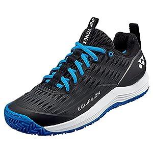 YONEX Men's Power Cushion Eclipsion 3 Tennis Shoes, Black/Blue (US Size 10)