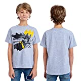 DC Comics Boys' Little Lego Batman T-Shirt, Gray, 4