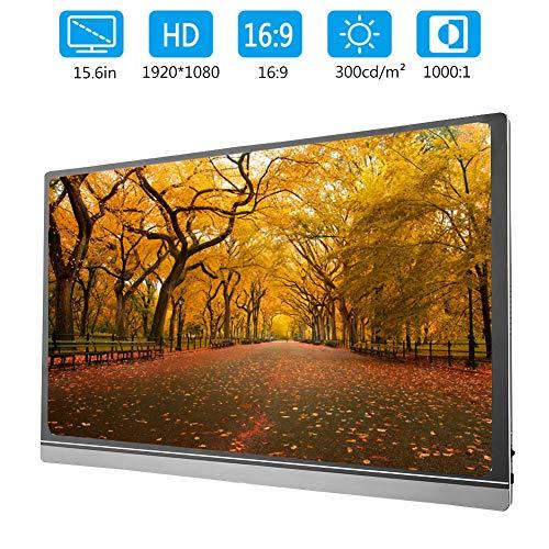 15,6-inch scherm Ultradunne type-c / mini HDMI-monitor 1920 x 1080 IPS-scherm met 2K drinkwater PC 16: 9 1000: 1 contrast Hetzelfde scherm voor notebooks, mobiele telefoons en desktops