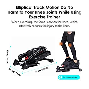 REEHUT Desk Elliptical Machine for Home Office , Mini Elliptical,Pedal Exerciser Trainer, Standing Elliptical Bike, Quiet & Compact Workout Trainer with Adjustable Resistance & LCD Display