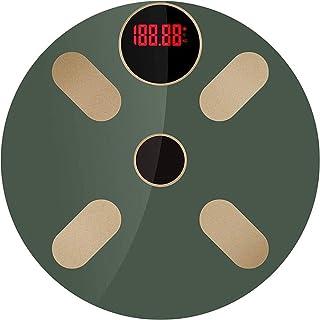 Báscula de baño digital Luz energía doméstica Escala electrónica, multifunción Báscula báscula peso corporal (Color : A)