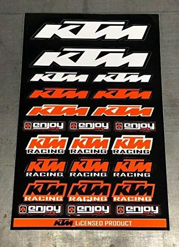 Enjoy Mfg Motorcycle Sticker Sheet Decal Graphics for KTM (BLACK)