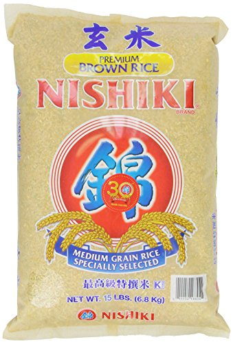 Nishiki Premium Brown Rice 15Pounds Bag