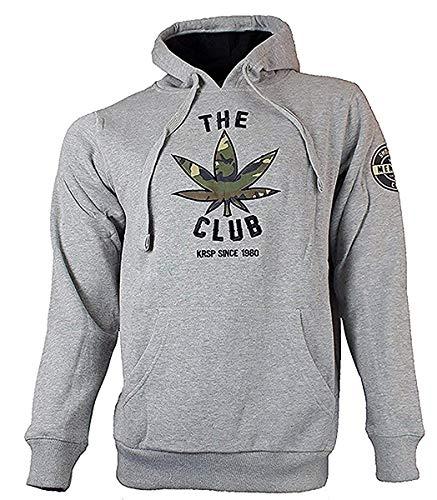 Le Krispy Club Pull À Capuche Hoodie / Fumeurs Club - Homme, gris, S