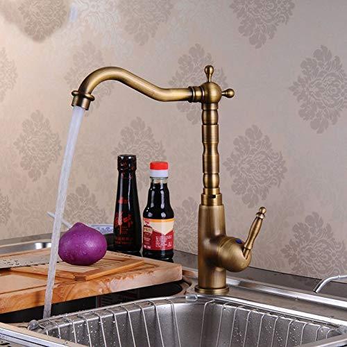 YHSGY Grifos de Cocina Accesorios De Cocina Grifo De Bronce Antiguo Grifería De Arco Alto Táctil Para Grifos De Agua De Barco Monomando Montados En Cubierta De Cocina