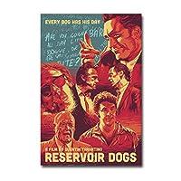 貯水池犬クラシック映画キャンバス絵画ポスタープリントホームルームの装飾のためのキャンバスの壁の写真キャンバスに印刷50x70cmフレームなし
