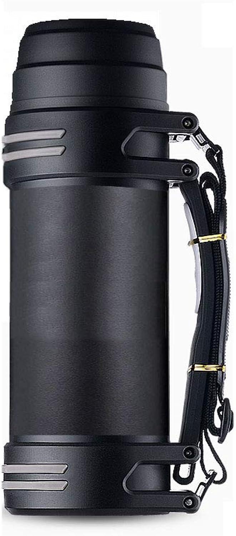 Bouilloire Pot D'isolation De Grande Capacité D'acier Inoxydable 304 Pot Extérieur 2000L D'isolation De Maison De portable (Couleur   noir)