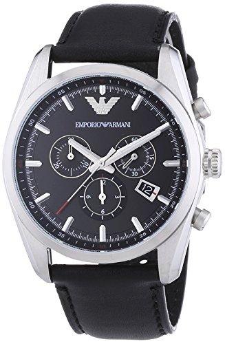 Emporio Armani Herren-Armbanduhr XL Chronograph Quarz Leder AR6039