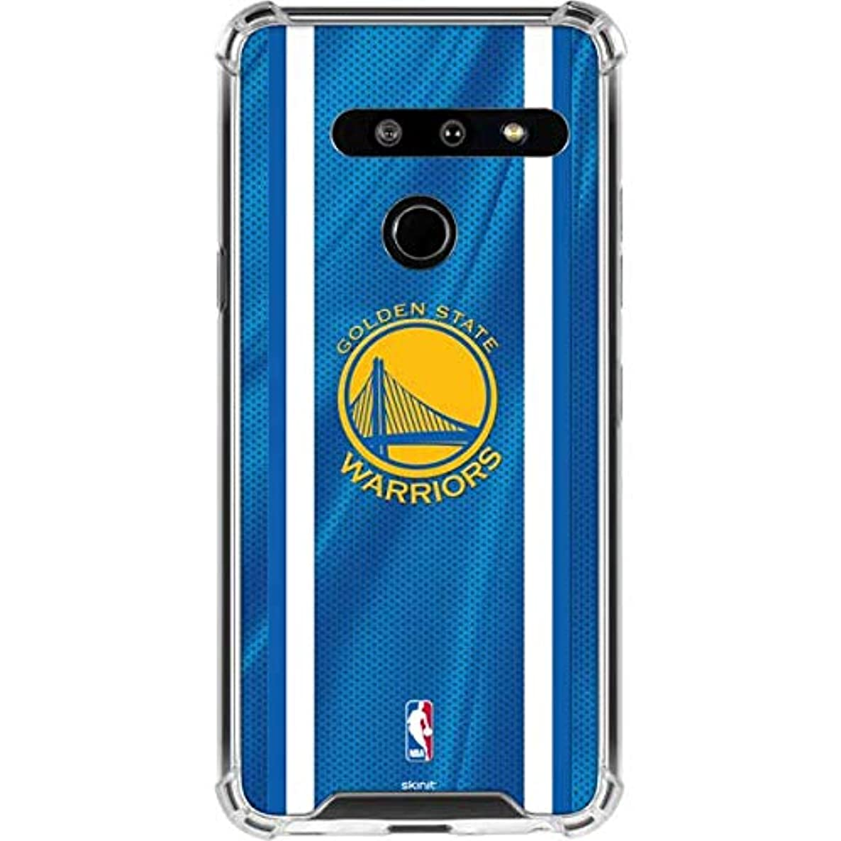 Skinit Golden State Warriors LG G8 ThinQ Clear Case - Officially Licensed NBA Phone Case - Transparent LG G8 ThinQ Cover