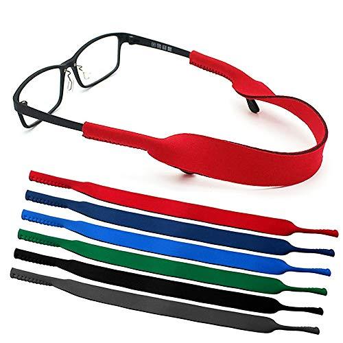 occhiali regolabili Lifreer 6 PZ Sport Occhiali Da Sole Strap Alta Elastico Regolabile Occhiali Sportivi Cinturino Fascia Fascia Fascia Galleggiante Fermo per Occhiali Da Sole