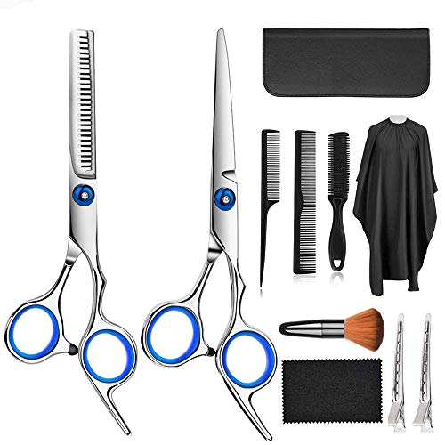 Haarschere Set, Scharfe Haare Friseurscheren, Modellieren Professionelle Friseur-Sets, Haarschneideset für Männer Frauen Kinder