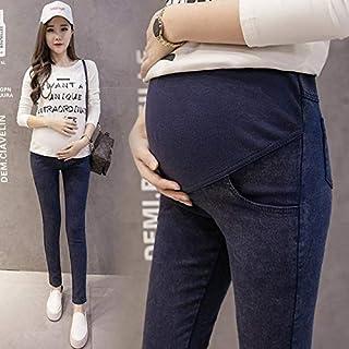 جينز - بنطلون جينز للحوامل للنساء الحوامل ملابس الحمل مرنة ربيع 2019 بنطلون حمل نحيف جديد مقاس كبير (جينز أزرق XL)