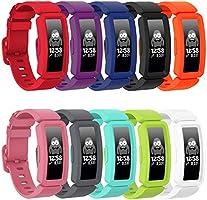 GVFM compatibel met Fitbit ace 2 bands voor kinderen 6+, zachte siliconen waterdichte armband accessoires sport riem...