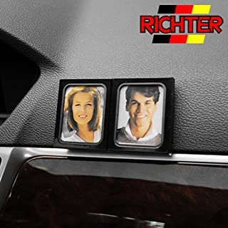 Richter 13300 SK Automotive Car Dash Mount Couples Photo Holder Black Frame Twins Double Stand