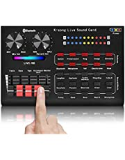 R8 Voice Changer Sound Mixer Board For Live Sound Card Multiple Sound Effects Audio Mixer Singing Equipment